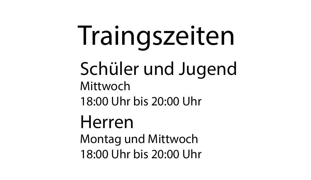 Traingszeiten
